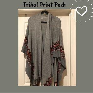 Sweaters - Tribal Print Wrap